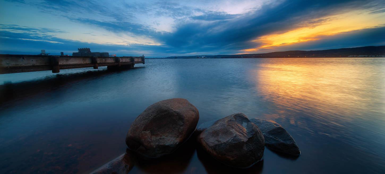 Sunset water scene